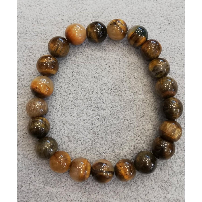Мъжка гривна от естествени камъни - тигрово око