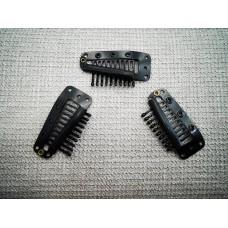 Щипка за треса от метал и силикон, удобно закрепване на екстеншъните към косата